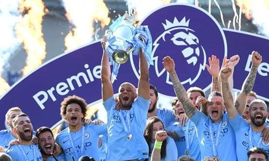 Pemain Manchester City merayakan kemenangan timnya. (foto Manchster City)