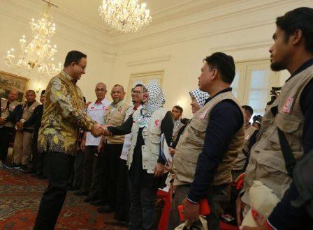 Anies Lepas Keberangkatan Tim Pembangunan RS Indonesia MER-C (bjc)
