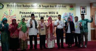 Wali Kota Marullah Matali ketika buka acara di Aula Fakultas Ekonomi dan Bisnis Universitas Pancasila, Kecamatan Jagakarsa, Jakarta Selatan, Rabu (20/2).