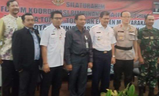 Acara Forum Koordinasi Pimpinan Kota (Forkopimko) Kota Administrasi Jakarta Selatan di Hotel Kristal, Jalan Terogong Raya, Cilandak Barat, Jakarta Selatan, Rabu (20/2/2019).
