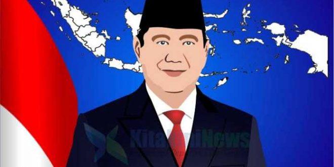 Ilustrasi karikatur Prabowo Subianto