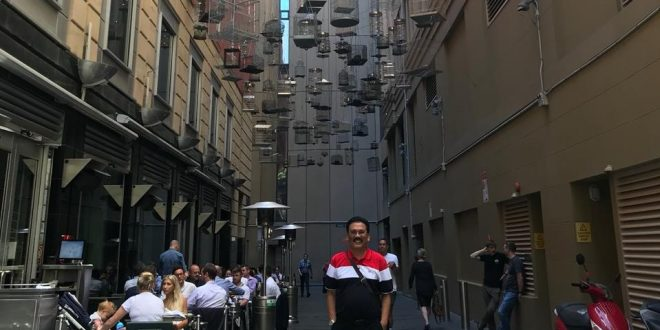 Di salah satu sudut CBD (Central Business District) Sydney, Australia