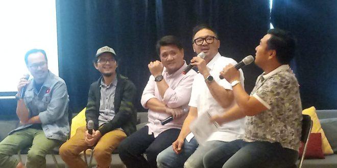 Khelmy Pribadi saat Press Conference di Cohive D'Lab, Menteng, Jakarta kemarin.
