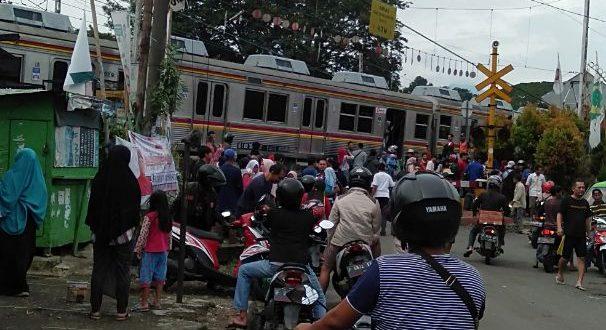 Kecelakaan Kereta Rel Listrik (KRL) KA 1722 terjadi lagi. Kali ini antara Stasiun Cilebut dan Stasiun Bogor, Minggu (10/3). (ist)