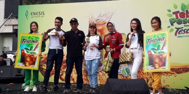 Jane Selly Group Product Manager Tesona di arena Car Free Day, Jalan Jenderal Soedirman, Jakarta Pusat, Minggu (10/3/2019).
