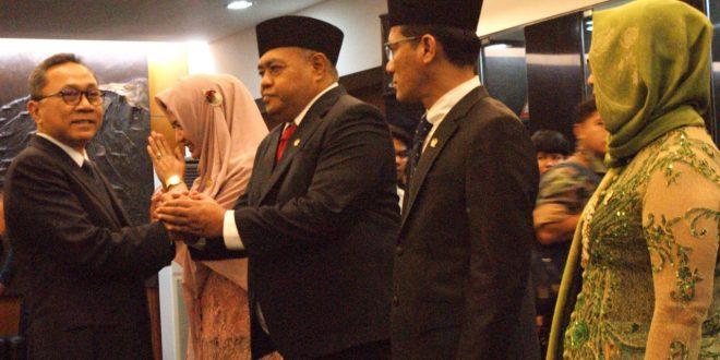 Ketua MPR RI Zulkifli Hasan melantik dan pengucapan sumpah dan janji jabatan 4 orang anggota MPR RI