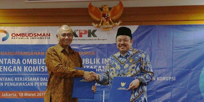 Ketua KPK Agus Rahardjo di Gedung Ombudsman, Kuningan, Jakarta Selatan, Senin 18 Maret 2019 lalu.
