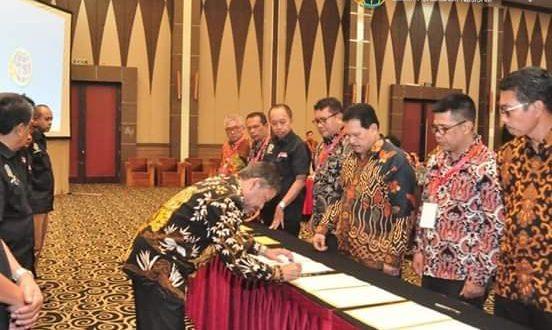 Gubernur Riau Syamsuar saat menyampaikan sambutan sekaligus membuka Rapat Kerja Daerah (Rakerda) Kantor Wilayah Badan Pertanahan Nasional (BPN) Provinsi Riau, Pekanbaru, pekan lalu.