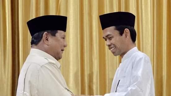 Prabowo Subianto dan Ustadz Abdul Somad