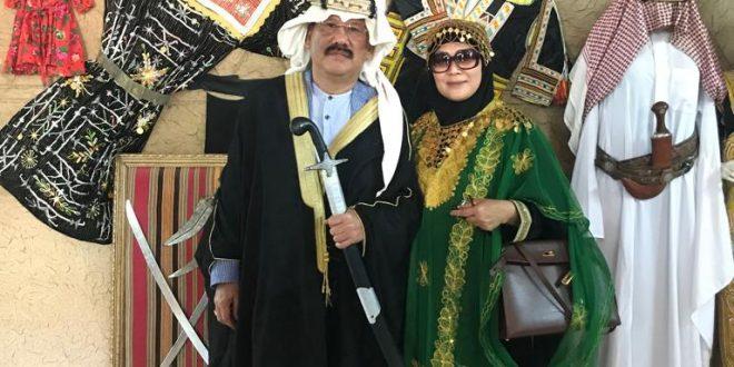 Saya dan isteri berkunjung ke Meseum Al Amoudi, Kamis (4/4) siang