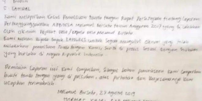 Polisi Tangani Dugaan Pemalsuan Tanda Tangan Anggota Bpd Www Koranpelita Com