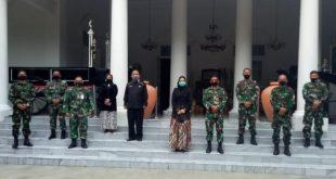 Komandan Lanud Suryadarma Marsma TNI Djohn Amarul, S. AB.saat bersilaturahim di Pemda Kabupaten Purwakarta.